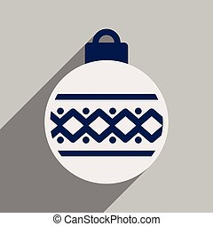 plano, pelota, largo, sombra, navidad, icono