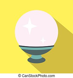 plano, pelota, magia, icono