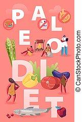 plano, productos, vector, fruits, vegetal, brochure.,...