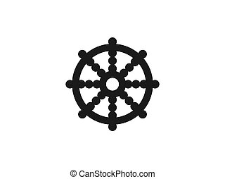 plano, rueda, vector, design., icon., budismo, ilustración, ...