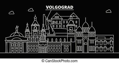 plano, silueta, lineal, ciudad, ilustración, arquitectura,...