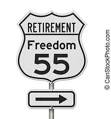 plano, sinal rodovia, estrada, aposentadoria, eua, 55, liberdade, rota