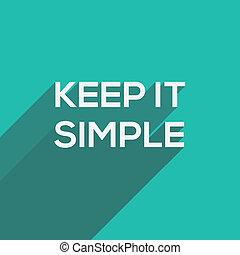 plano, tipografía, simple, moderno, él, retener
