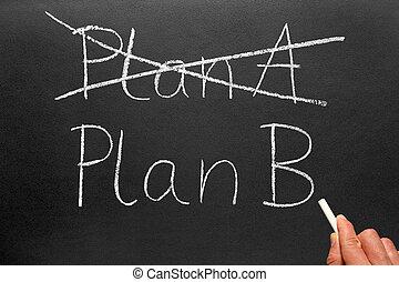 plano, um, e, plano, b.