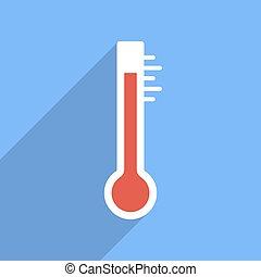 plano, vector, termómetro