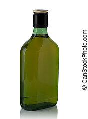 plano, verde, botella