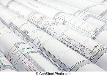 planos, arquitetônico