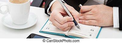 planowanie, biuro, harmonogram