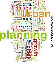 planowanie, miejski, pojęcie, tło