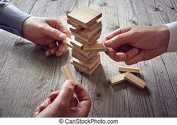 planowanie, ryzyko, i, drużyna, strategia, w, handlowy