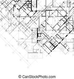 plans bâtiment, fond