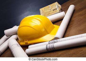plans, bâtiment
