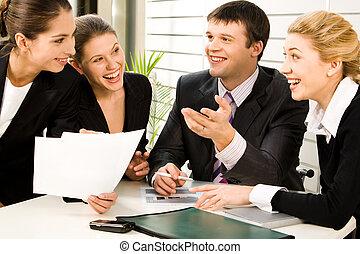 plans, discussion affaires
