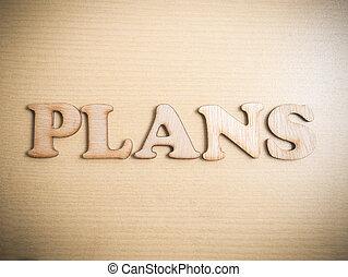 Plans Motivational Words Quotes Concept