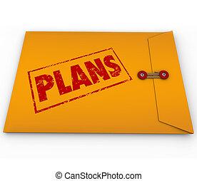 Plans Secret Confidential Envelope Covert Operations