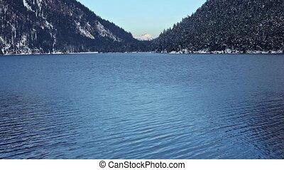 Plansee Lake (Austria) Winter View. - Plansee lake winter...