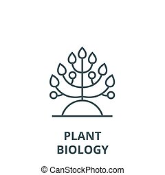 Plant, biology vector line icon, linear concept, outline sign, symbol