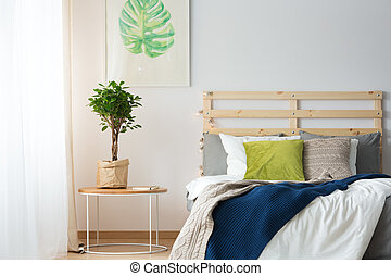 Plant by the bed
