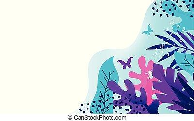 plant, colouful, achtergrond, textuur, creatief