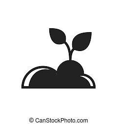 plant Farm icon black color