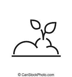 plant Farm icon line style