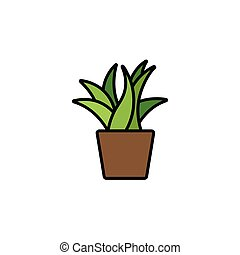 Plant. Filled color icon. Nature vector illustration - Plant...
