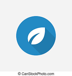 plant Flat Blue Simple Icon with long shadow