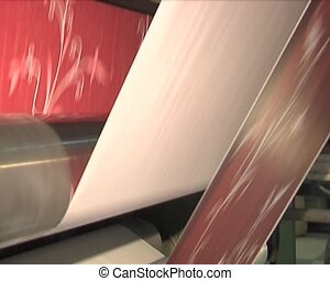 Plant for the production of paper products