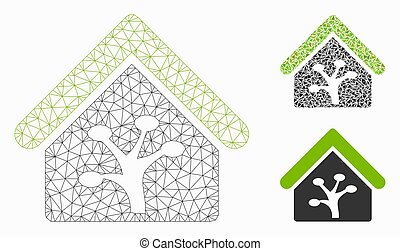 Plant Glasshouse Vector Mesh Network Model and Triangle ...