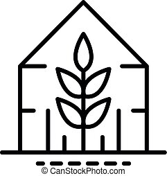 Plant greenhouse icon, outline style