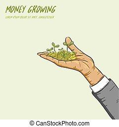 businessman can make money grow.