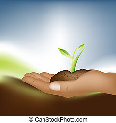 theme of growth - Plant Growth Background, theme of growth .