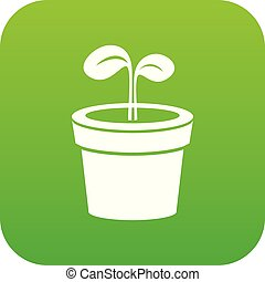 Plant icon green vector