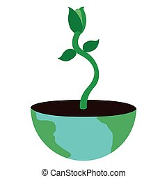 Plant in a earth