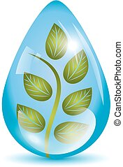 Plant in a sphere icon