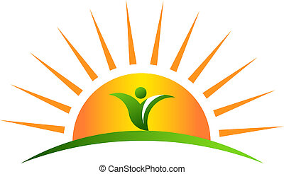 plant, in, zonopkomst