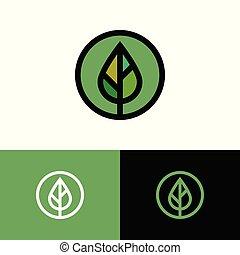 Plant leaf as icon