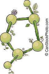 Plant Molecule Illustration