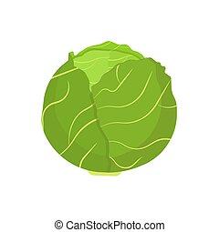 plant, natuurlijke , boerenkool, slaatje, natuur, boerderij, symbool, dieet, voedsel., vector, groene, flat., groente, blad, kool, pictogram, oogsten, bestanddeel