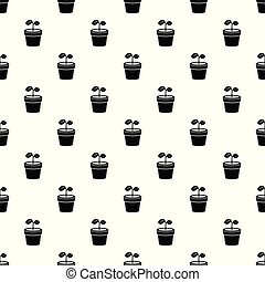 Plant pattern vector seamless