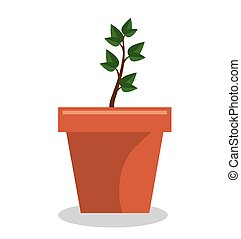 plant pot garden isolated icon vector illustration design