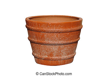 Plant pot isolated on white background, clipping path included.