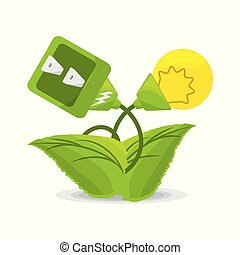 plant related with alternative energy for save the planet,...