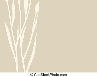 plant silhouette on brown background, vector illustration
