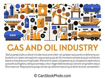 plant, spandoek, middelen, gas, industrie, mijnbouw, ...