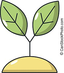 Plant sprout icon, cartoon style