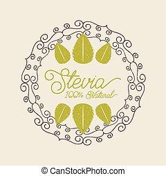 plant stevia natural sweetener icon vector illustration design graphic