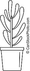 Plant tree cactus icon, outline style