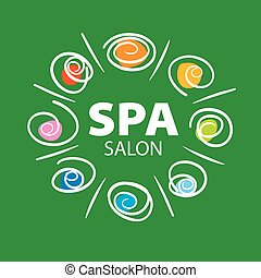 plant vector logo for Spa salon on a green background