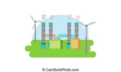 plant, wind, vriendelijk, energie, eco, molen